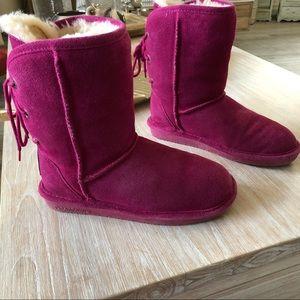 ❄️BearPaw fuschia wool insulated suede Boots